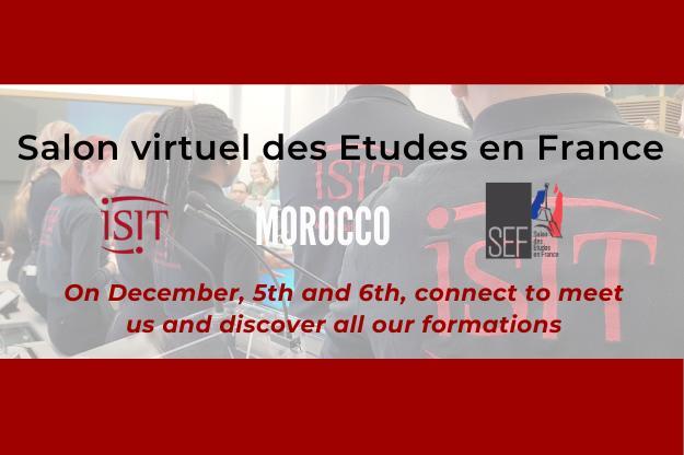 Salon virtuel des Etudes en France (SEF) Morocco – December, 5th and 6th 2020