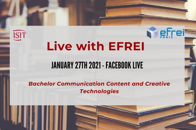EFREI & ISIT Live- Discover our Bachelor – January 27th 2021