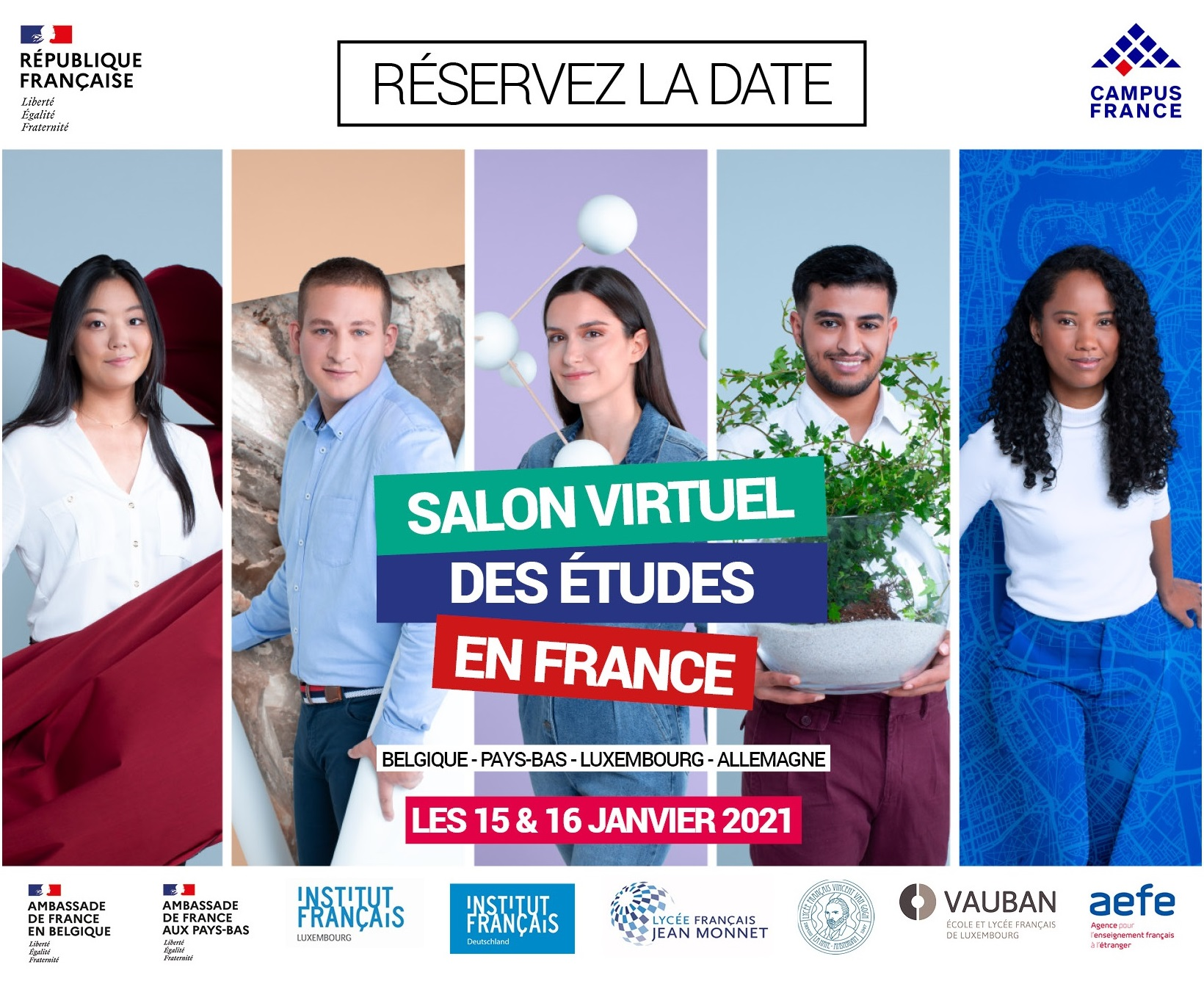 Virtual Fair Campus France Benelux – January 15th and 16th, 2021