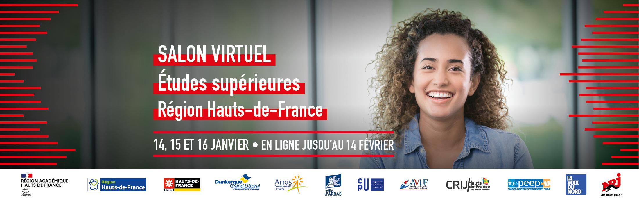 "Virtual Fair ""études supérieures – Hauts-de-France region"" – from January, 14th to 16th 2021"