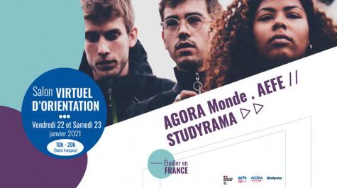 Virtuel Fair by AEFE, AGORA Monde and Studyrama – January 22nd and 23rd