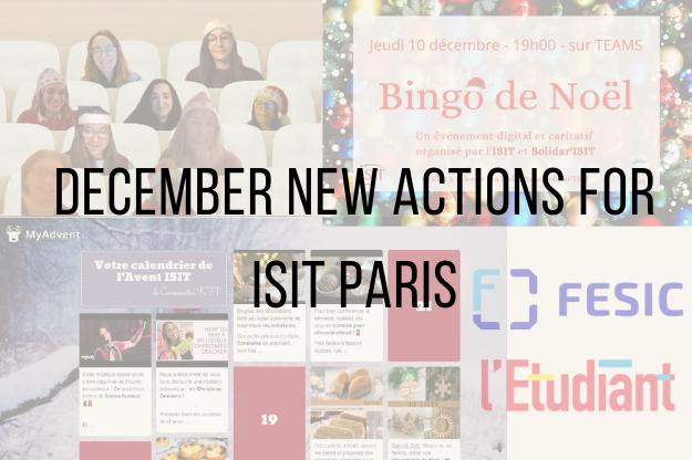 December: a month of new actions for ISIT Paris