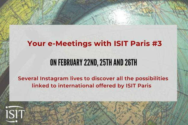 All you have to know about the international dimension at and with ISIT Paris – Your e-Meetings #3