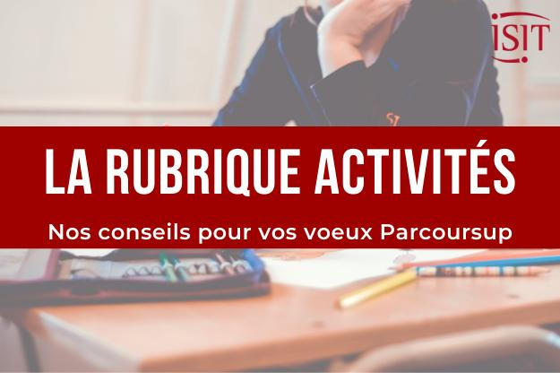 Our advice - The Parcoursup activities section
